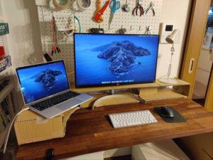 池澤さん作のEMARFを使ったワークスペース用棚