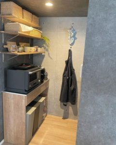 製菓道具の収納に特化したキッチン